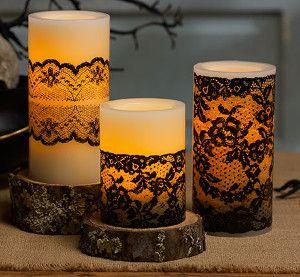 Victorian Lace Candles | FaveCrafts.com
