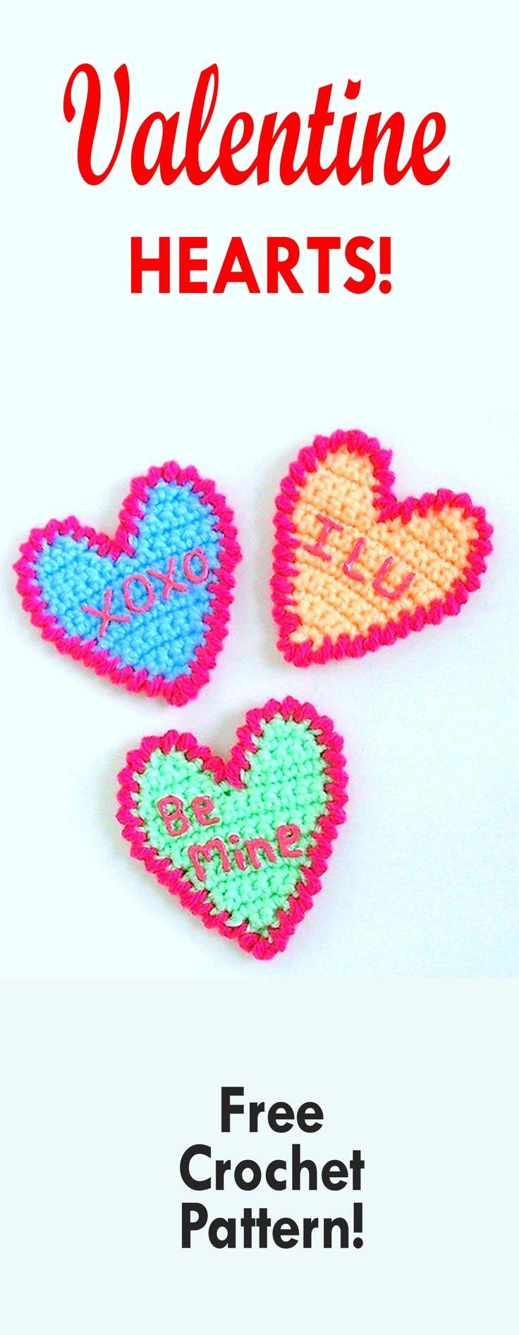 398 best Corazones images on Pinterest | Crochet hearts, Crochet ...