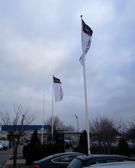 The new design of the MAN PrimeServ flag on a windy January day 2013 at MAN PrimeServ Holeby, Denmark.