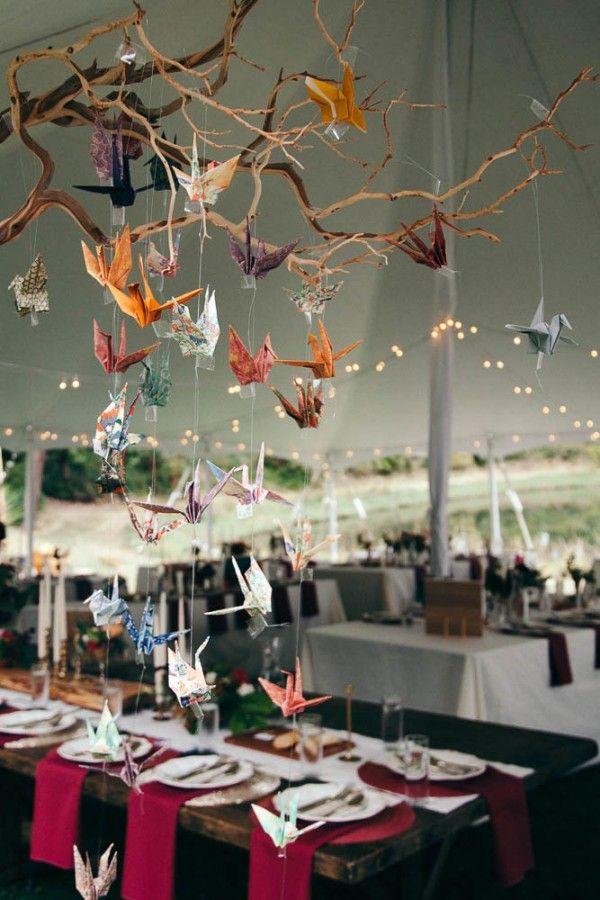 Inspiration pour un mariage en automne : origami