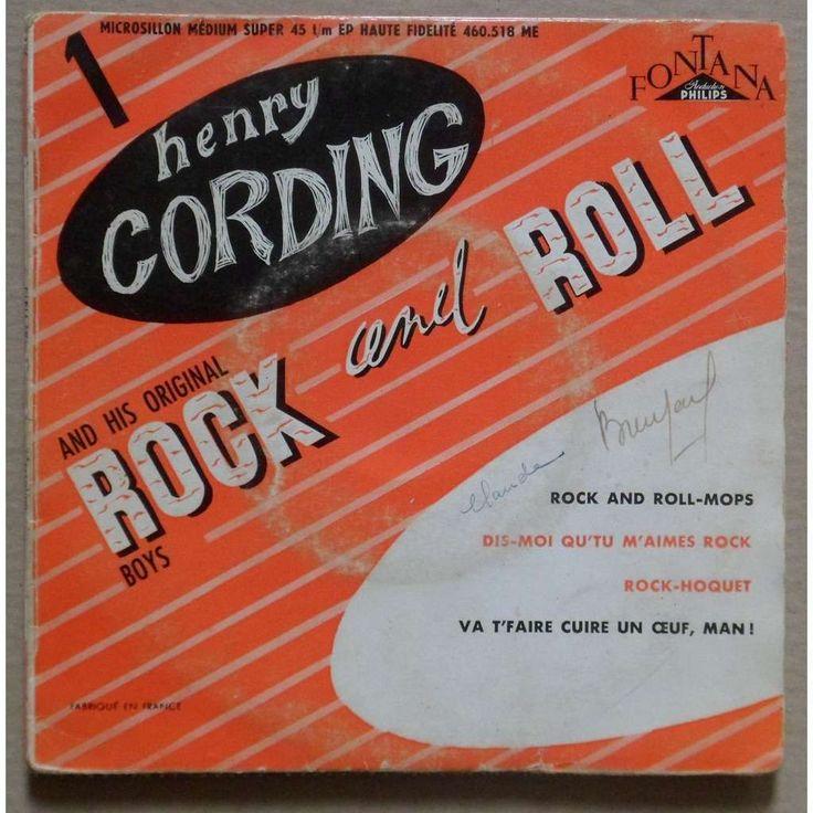 Henry Cording and His Original Rock and Roll Boys (1956) #Henri_Salvador