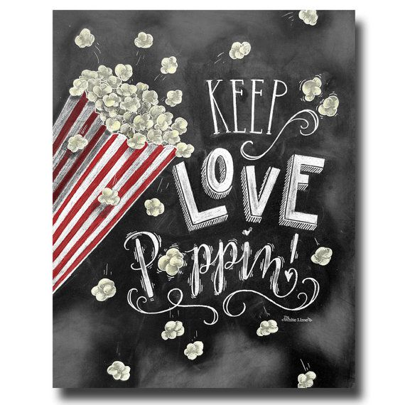 •The Listing •  Add some fun flare to your rustic wedding decor with this chalkboard popcorn bar sign! Since it was originally drawn on a
