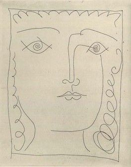 Pablo Picasso from book by Paul Eluard