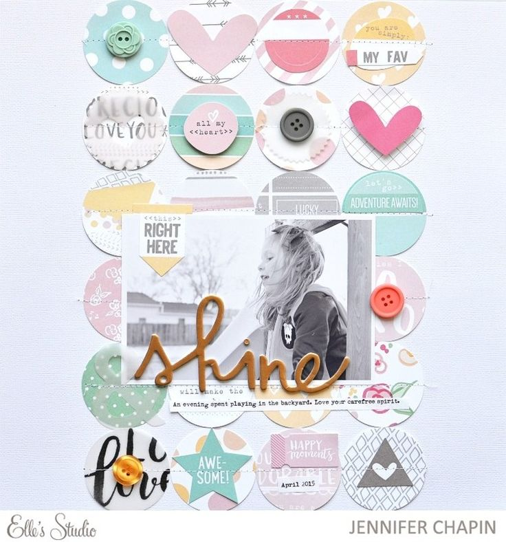 #papercrafting #scrapbook #layout. Shine by jenrn at @studio_calico