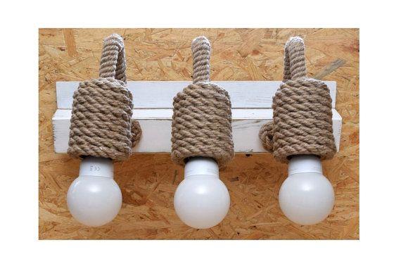 Tocador luz lámpara de pared lámpara de pared cuerda de por StyLova