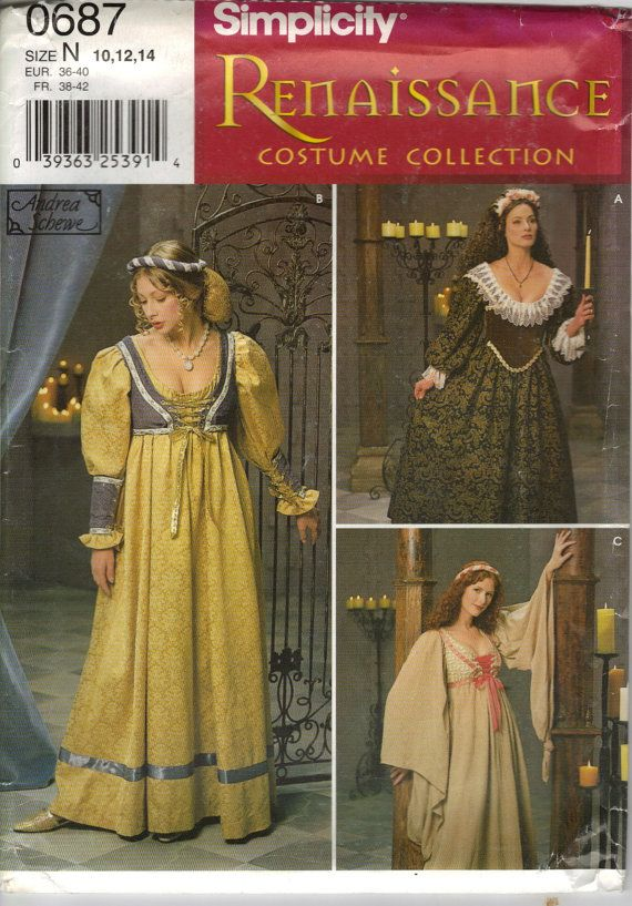 Simplicity Costume Sewing Pattern 0687 aka 8192 by