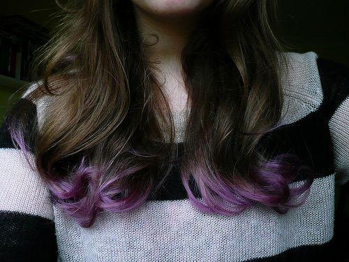 How to Dip Dye Lilac Hair - Love this!