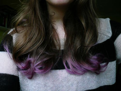 How to Dip Dye Lilac Hair - Love this!