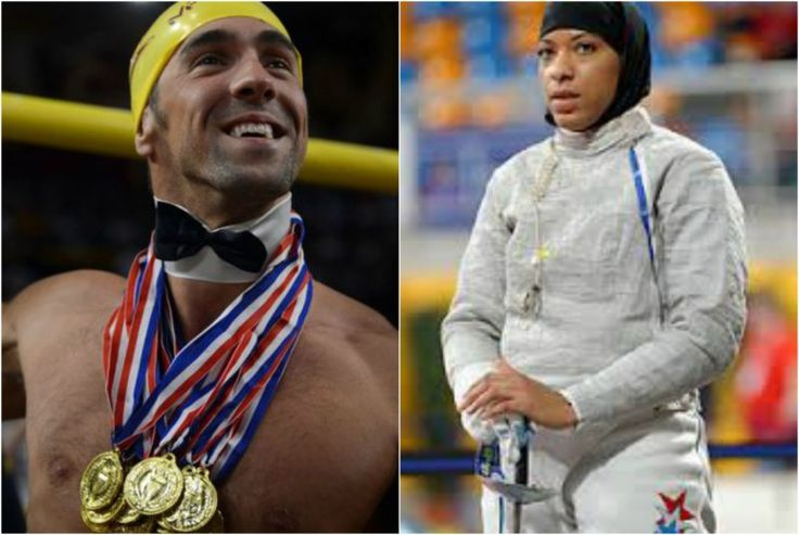 """Michael Phelps Urged To Give Up Position As Olympic Flag Bearer to a Muslim---- They have politicized the Olympics with the """"refugee"""" team. Now they want a Trump-bashing Muslim to be our flag-bearer. Why should she be our flag bearer? Because she's Muslim, of course."""