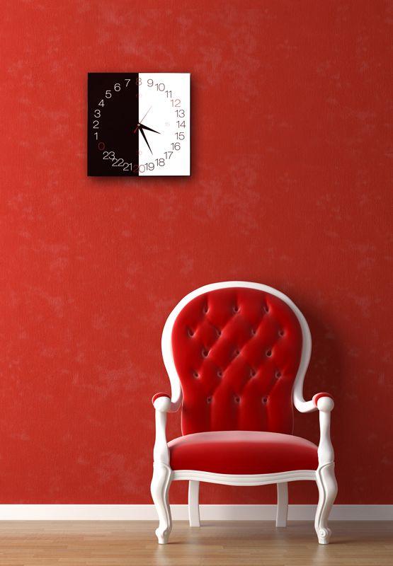 NIGHT (24hours clock)  design Gianluca Di Ioia  #clock #wall #night #day #design #iron
