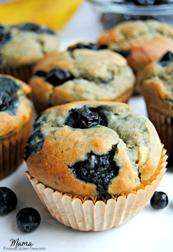 The only gluten-free blueberry banana muffin recipe you'll ever need; a one bowl wonder! No mixer required just a fork and a spoon. Dairy-free option.