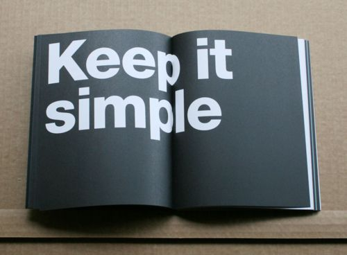 Keep it simple.  #KISS    #Recovery