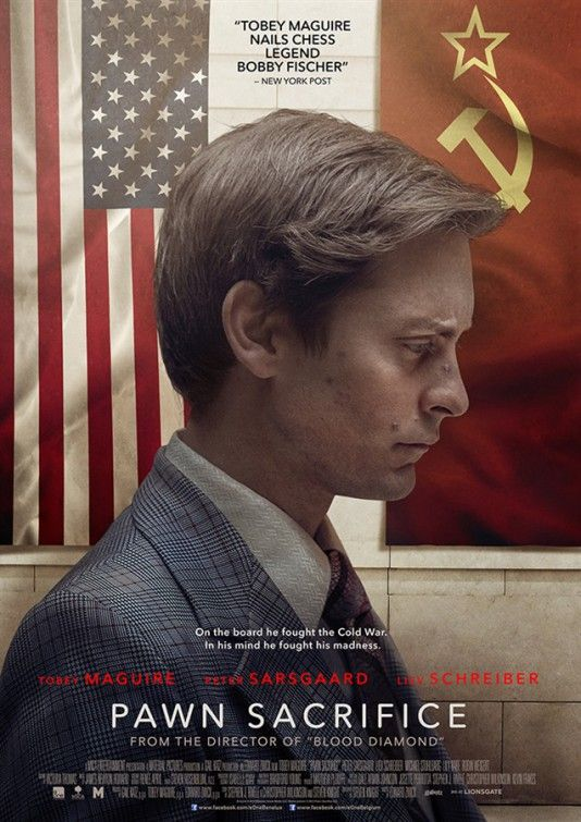 Pawn Sacrifice In a gripping true story set during the height of the Cold War, American chess prodigy Bobby Fischer finds himself caught between two superpowers when he challenges the Soviet Empire. It chronicles Fischer's terrifying struggles with genius and madness, and the rise and fall of a kid from Brooklyn who captured the imagination of the world. (Adult DVD) 6/5/16
