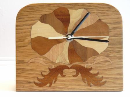 Reloj sobremesa reloj de sobremesa decorado en marqueter - Madera para marqueteria ...