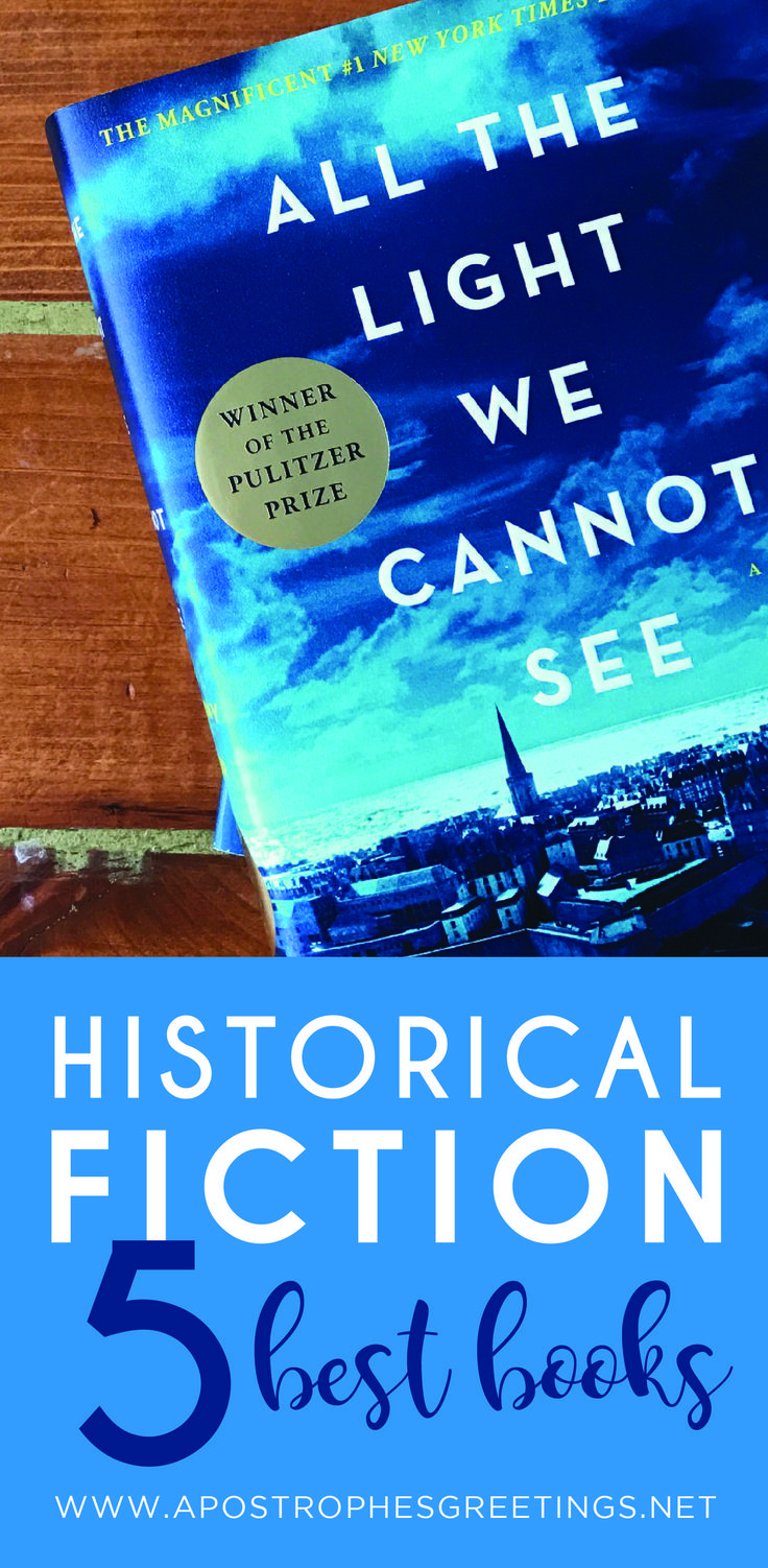 The 5 best Historical Fiction books for your book club to read. Great books to read while sitting down with a cup of hot coffee.
