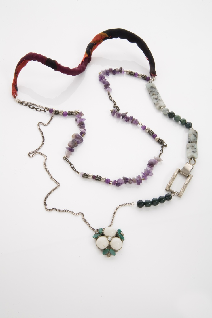 handmade necklage, recycled materials