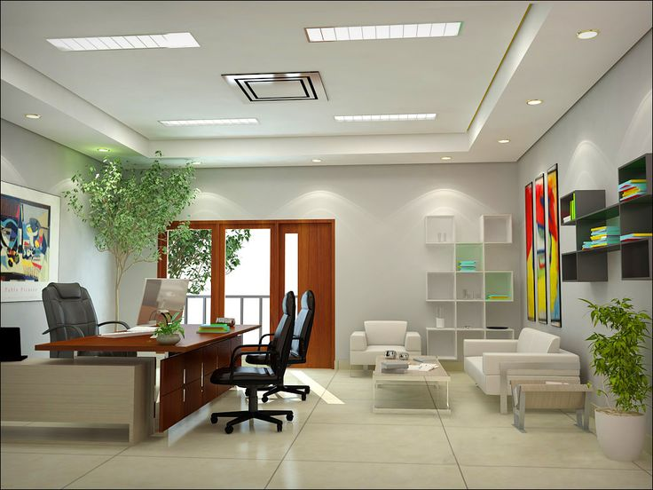interior delightful designer office design with amazing large wooden desk and modern black leather furniture south