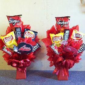 Amateur Hour: Floral Design, Baking, DIY: Easy DIY Valentine's Day Gift for Him! Junk Food Bouquet