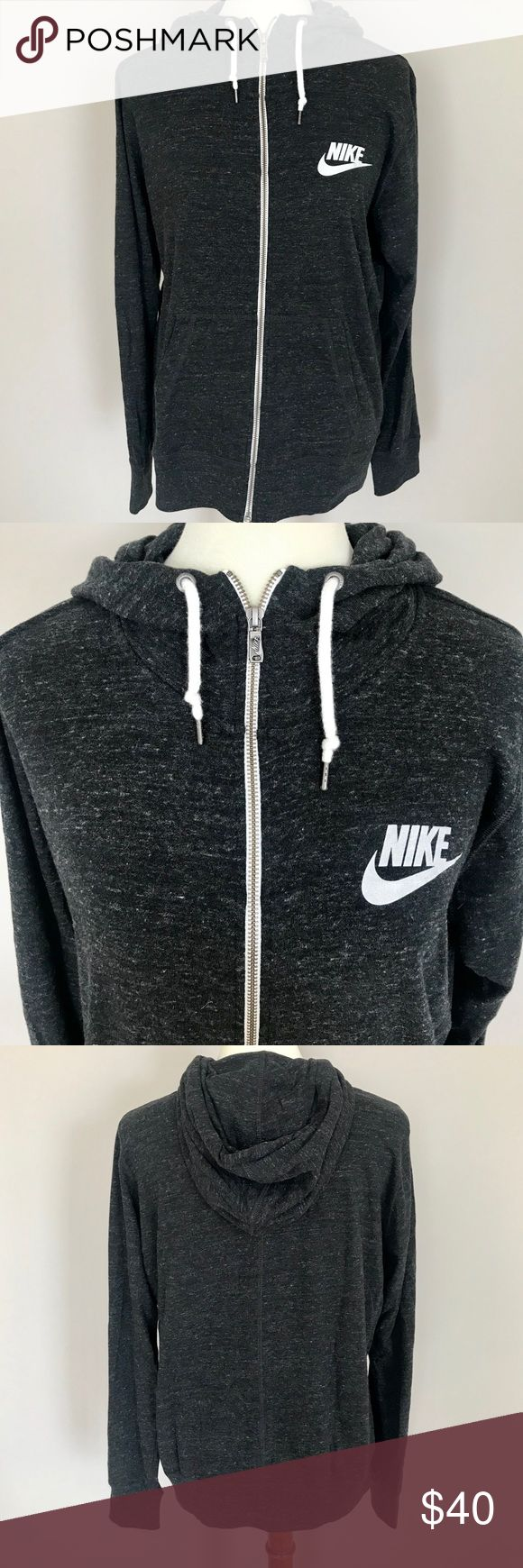 Nike Gray Flecked Hoodie Jacket- NWOT Nike Gray Flecked Hoodie Jacket- NWOT Gray hoodie flecked with white Zip-up Never worn, excellent condition Nike Tops Sweatshirts & Hoodies