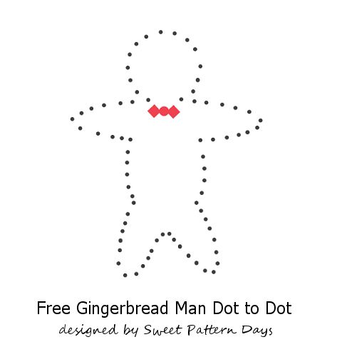 Gingerbread Man Dot to Dot | Christmas Printables | Pinterest