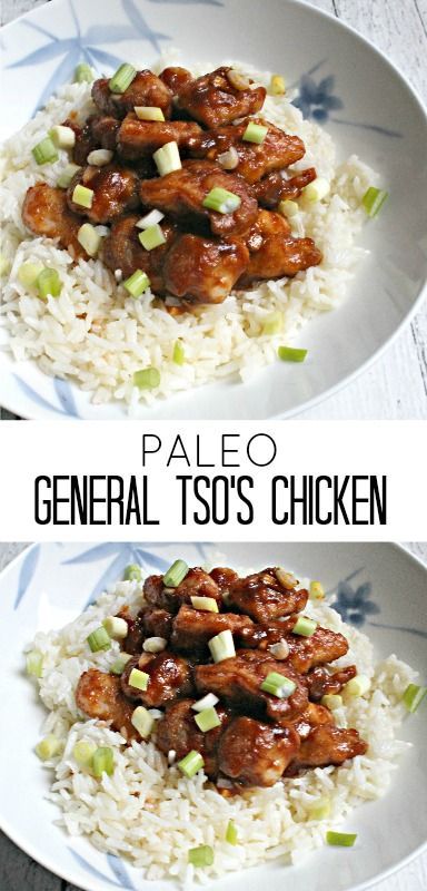 Paleo General Tso's Chicken - healthy, gluten-free, Chinese food that's perfect for dinner or as leftovers for lunch!