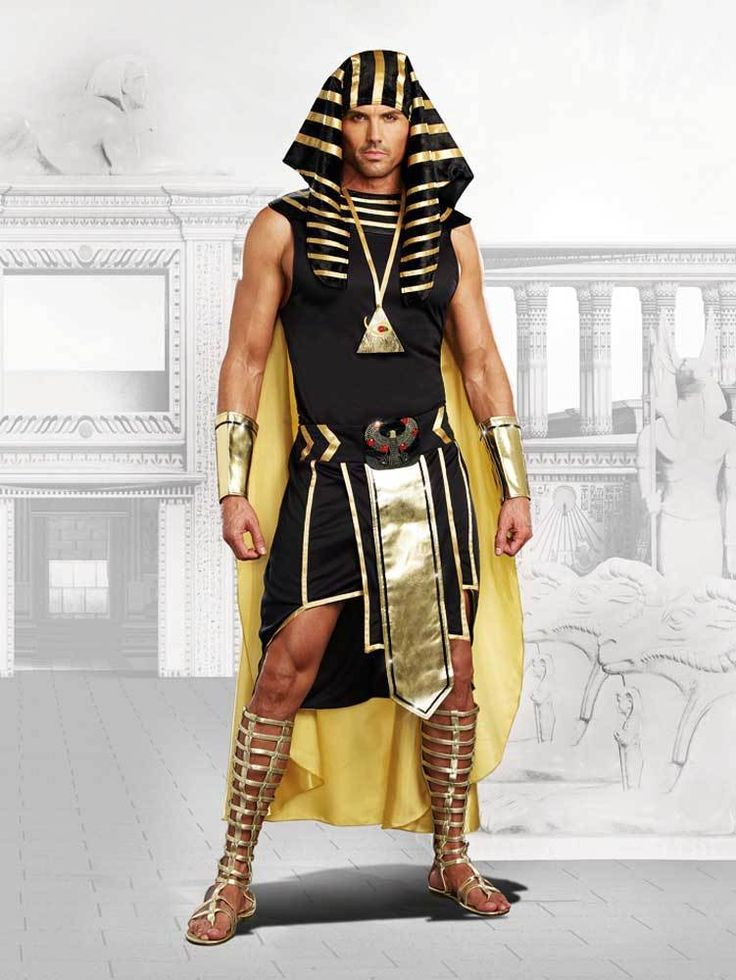 Pharaoh King Tut Mighty Ruler Anubis Halloween Outfit Egyptian Costume Adult Men #Dreamgirl