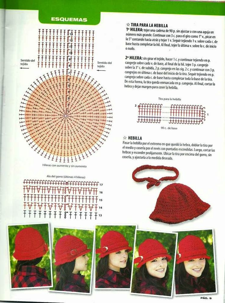 Mejores 37 imágenes de gorros tejidos crochet en Pinterest ...
