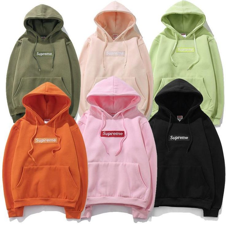 ALL Colors SUPREME HOODIE Sweater Unisex Cotton Logo Embroidered NEW WITH TAG #Supreme #Hoodie