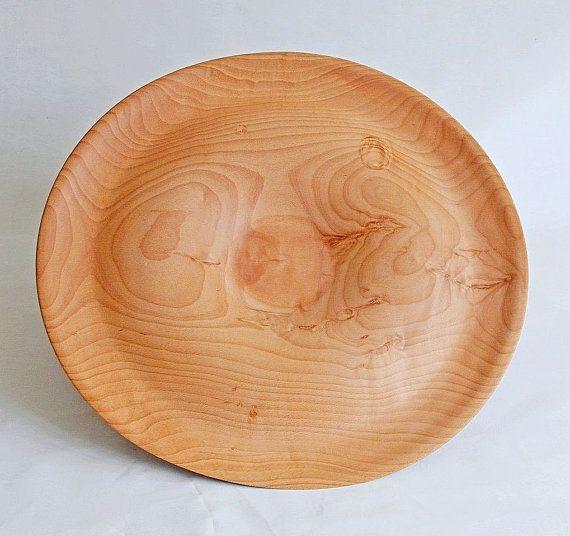 Large Beech wooden platter,handmade woodturning.