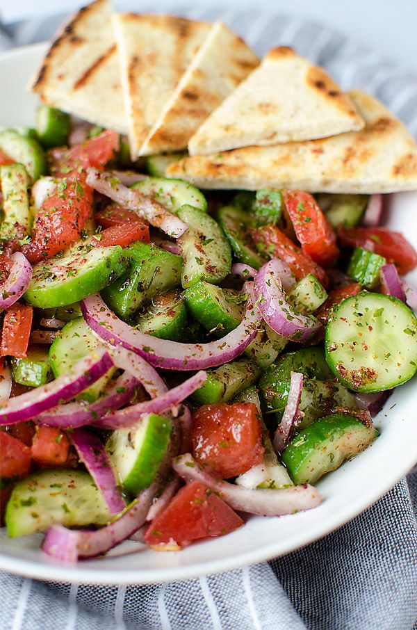 Fattoush Salad - A simple and easy Middle Eastern salad that comes together in just minutes. It's piled high with fresh veggies and leaves you feeling healthy and satisfied. | NomingthruLife.com