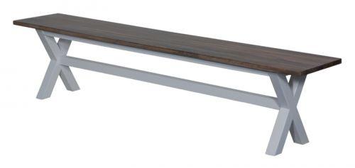 Benk i mangotre som passer perfekt til spisebord art.nr 400840 Fargen på topplaten er lys gråbrun.Platene er behandlet for hånd, og vil derfor ha uregelmessigheter i farge og struktur. Mål:Lengde 200 cmBredde 35,5 cmHøyde 44,5 cmMateriale/ finish:Mangotre - hvit understell og matt pusset brunfarge på sitteflaten. Varen er produsert i mangotre som er et levende materiale. Treverket vil bli påvirket av ytre påkjenninger som varme og ...