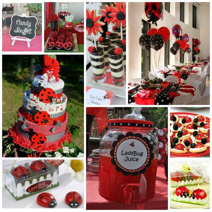 Image result for ladybug baby shower ideas
