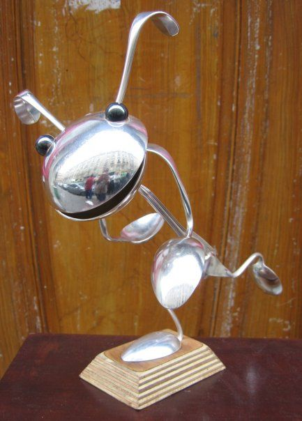Cutlery Sculptures Artists That Inspire