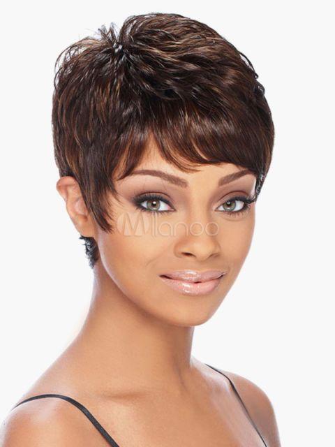 Unique Brown Human Hair Short Wigs For Women Wig Human Hair Unique ... f3638dec92