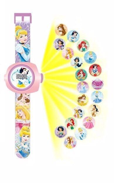 Disney Princess Pics Projection Digital Wrist Watch Girls Novelty Christmas Gift  | eBay
