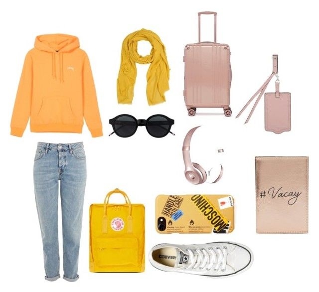 """""""my travel"""" by galuhhanisp on Polyvore featuring Topshop, Converse, Beats by Dr. Dre, Fjällräven, Moschino, Miss Selfridge, Rebecca Minkoff, CalPak and Étoile Isabel Marant"""