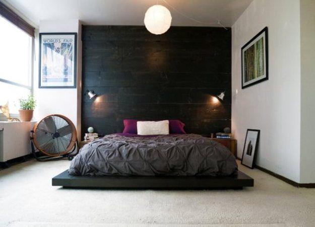 Фотография: Спальня в стиле Современный, Декор интерьера, Интерьер комнат, высокое изголовье кровати, встраиваемые светильники, светильники для спальни, светильники для чтения – фото на InMyRoom.ru