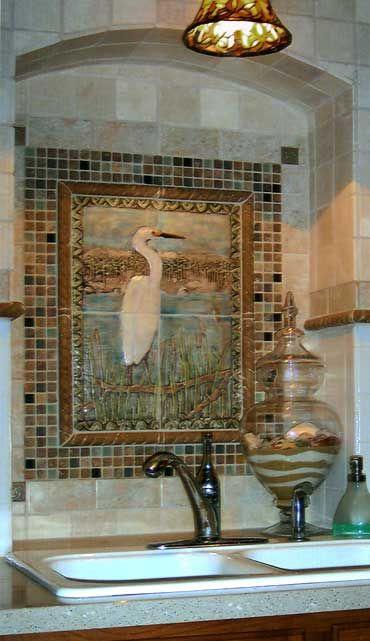 45 best kitchen mural ideas images on pinterest for Painting ceramic tile kitchen backsplash