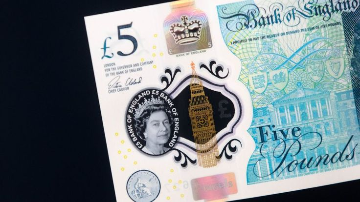 The new plastic £5 note is being launched in England and Wales on Tuesday, but…