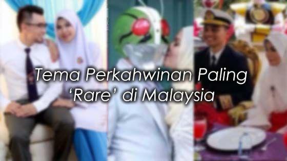 6 Tema Perkahwinan Paling Rare di Malaysia (19 Gambar)   Selalunya bila bercakap tentang tema perkahwinan mesti hanya tertumpu pada tema warna sahaja.  Kalau nak lari dari konsep biasa pun selalunya pengantin akan memilih perkahwinan berkonsepkan taman atau ala Bollywood.  Tapi sekarang ni terutamanya orang muda kalau boleh nak buat tema lain dari yang lain. Dengan harapan boleh jadi viral kot.  Jom tengok 6 tema perkahwinan paling pelik dan rare di Malaysia. Mana tahu bakal pengantin dapat…