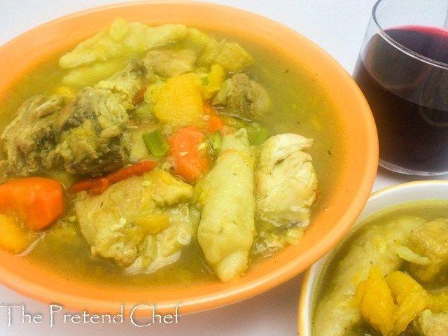 jamaican chicken soup with dumplings  jamaican chicken