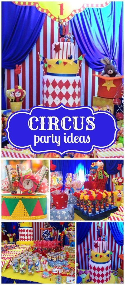 Check out this elaborate circus birthday party! See more party planning ideas at CatchMyParty.com!