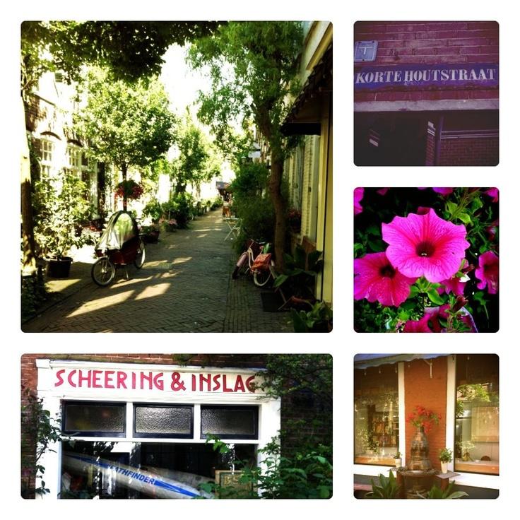 Leuke straten: Korte Houtstraat. Prachtig groen straatje met creatieve bewoners. Heerlijk gluren.