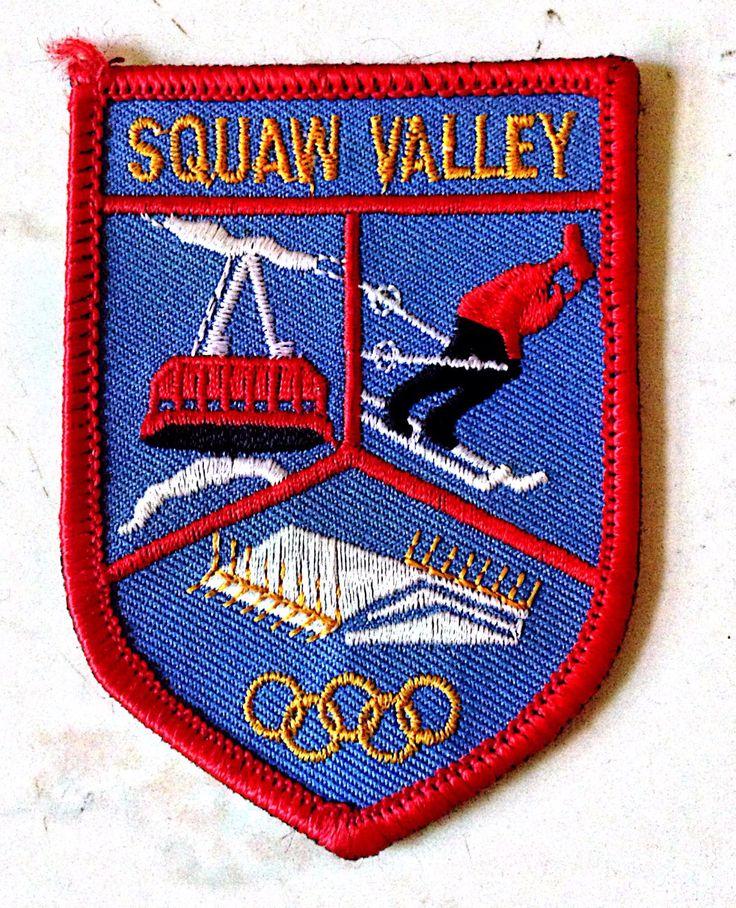 broderie, emblema brodata, jocuri olimpice 1960, CA,