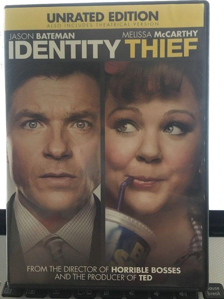 Identity Thief Melissa McCarthy Jason Bateman (DVD, 2013) Unrated Version
