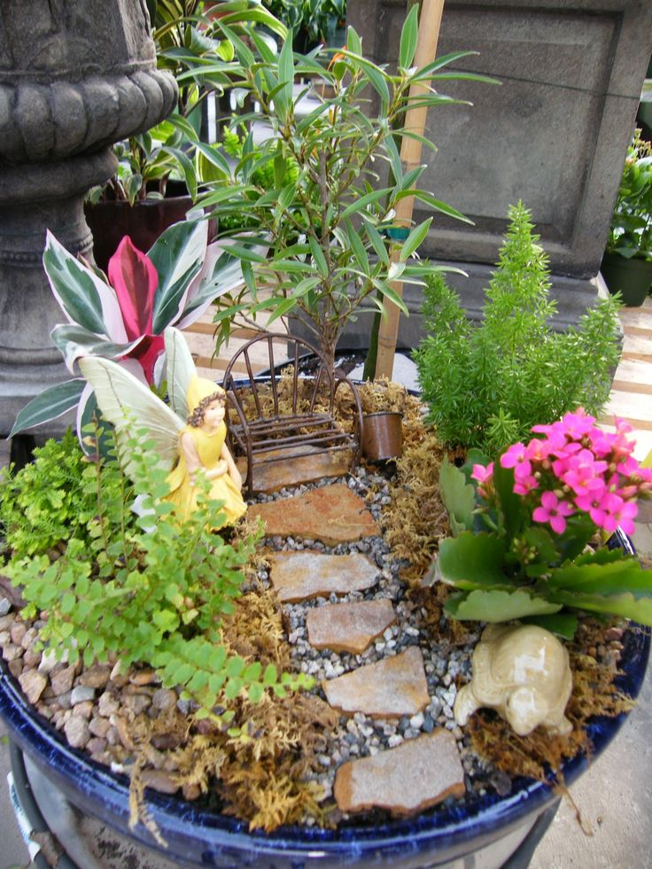 Large Fairy Garden Ideas find this pin and more on miniature fairy garden ideas Fairy Houses For The Garden Pre Made Fairy Garden 69 99 Our Large Fairy