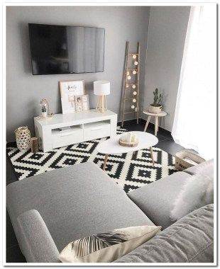 Over 45 cozy ideas for a living room in apartment 00064