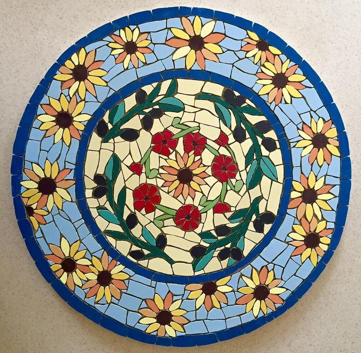 Mosaic Table Ready For Grouting