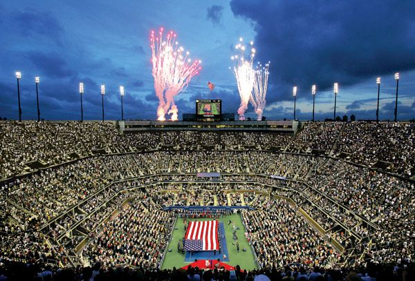 The US Open takes over Flushing for two weeks in late August and early September