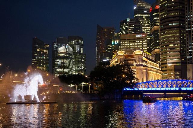 @isawcentaur walking on water! | Singapore Arts Festival 2012